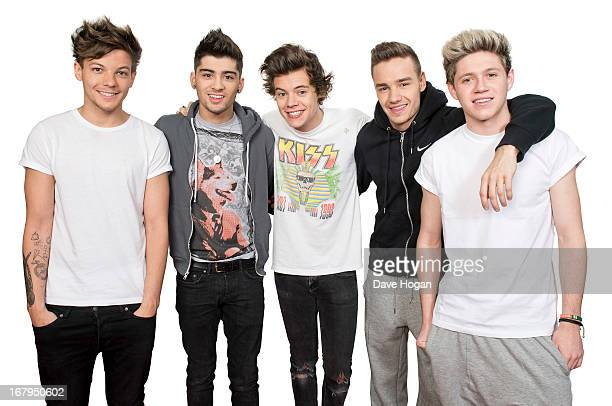 Pop band One Direction are photographed on April 20 2013 in London England
