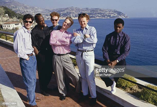 Pop Band Simply Red attend The San Remo Pop Festival on February 8 1987 in San Remo Italy