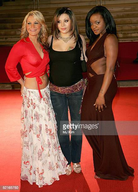 Pop band Sugababes arrives at the 25th Anniversary BRIT Awards 2005 at Earl's Court February 9 2005 in London