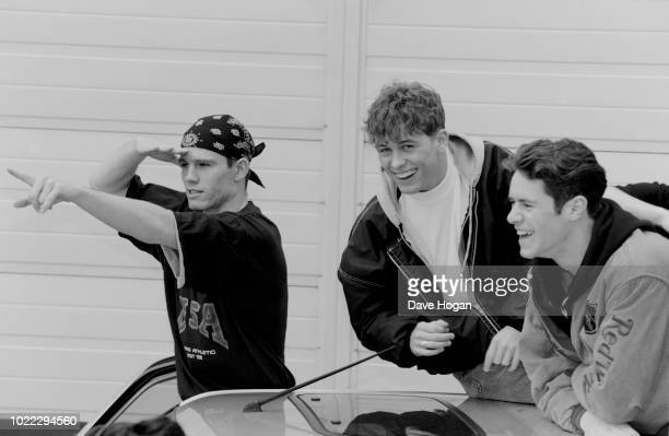 Pop band Take That during the children's TV Show 'Going Live!', circa 1990-91.