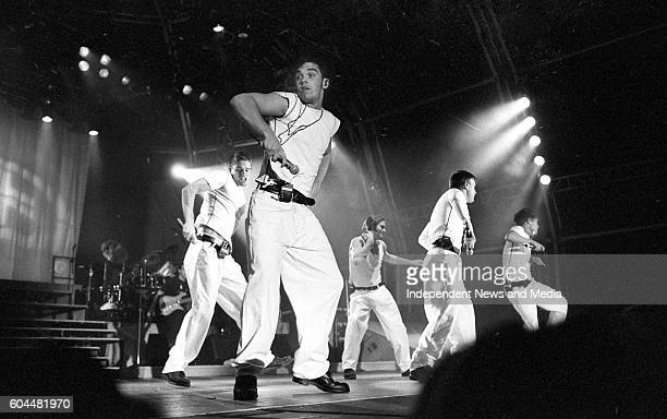 Pop band Take That in concert at Chelmsford in Essex in England