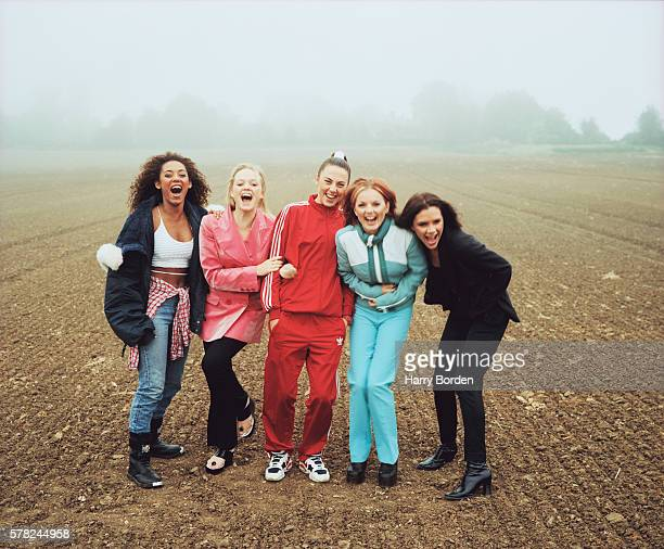 Pop band the Spice Girls are photographed for Big magazine on June 27 1996 in Hertfordshire England