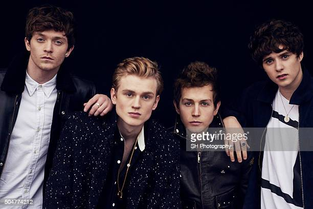 Pop band The Vamps are photographed for Notion magazine on October 23, 2015 in London, England.