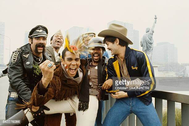 Pop Band The Village People in Paris