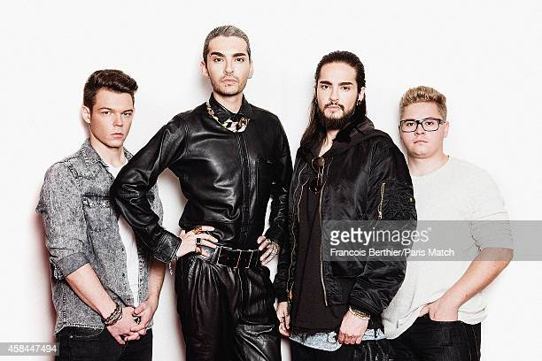 Pop band Tokio Hotel are photographed for Paris Match on October 9 2014 in Paris France