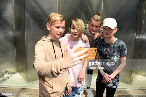 UK pop duo and teen stars Bars Melody and norwegian twin brothers pop duo and teen stars Marcus Martinus Photo Session on June 6 2017 in Berlin...