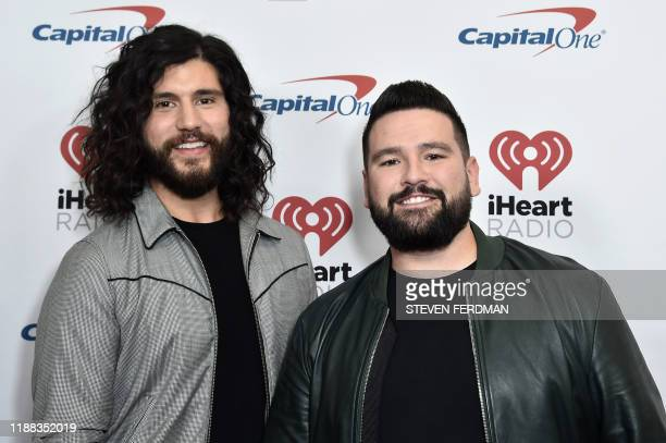 Pop duo Dan Shay arrive for the Z100's iHeartRadio Jingle Ball 2019 at Madison Square Garden in New York on December 13 2019