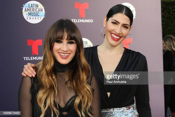 Pop Duo Ha*Ash attends the 2018 Latin American Music Awards at Dolby Theatre on October 25 2018 in Hollywood California
