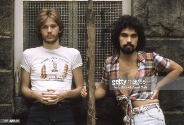 Pop duo Hall and Oates pose for a portrait in AUGUST 1975 in New York City New York