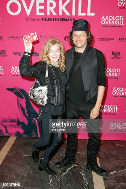 Pop Duo Inga Humpe and Tommi Eckart attend the 'Axolotl Overkill' Berlin Premiere at Volksbuehne RosaLuxemburgPlatz on June 21 2017 in Berlin Germany