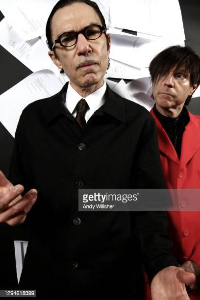 Pop duo Sparks photographed in London in 2008