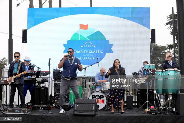 Pop Fiction performs during The Workday Charity Classic, hosted by Stephen and Ayesha Curry's Eat. Learn. Play. And Workday, at Franklin Elementary...