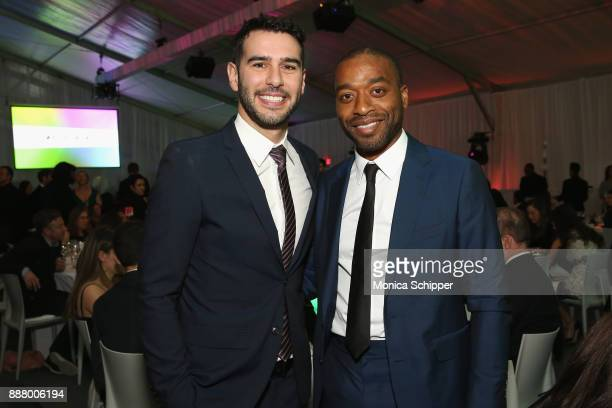 PoP Founder Adam Braun and Actor and Activist Award Honoree Chiwetel Ejiofo attend the Chivas Regal Cocktail Hour at Pencils of Promise Gala 2017 on...