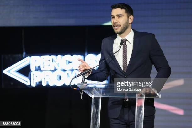 PoP Founder Adam Braun speaks onstage at the Chivas Regal Cocktail Hour at Pencils of Promise Gala 2017 on December 7 2017 in New York City
