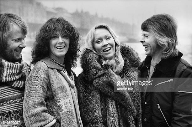 ABBA Pop Group 1978 in Stockholm Agnetha Faeltskog AnniFrid Lyngstad Benny Andersson and Björn Ulvaeus