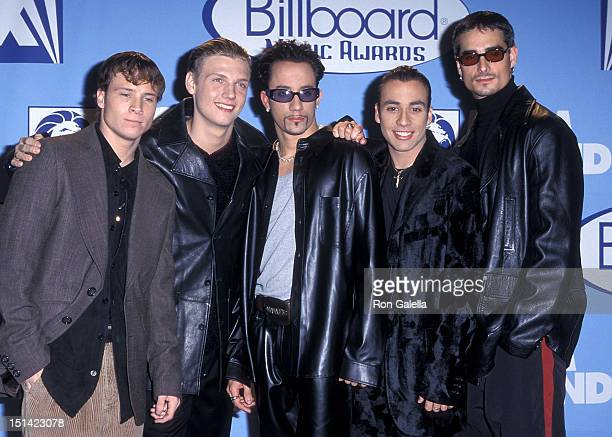 Pop group Backstreet Boys Brian Littrell Nick Carter AJ McLean Howie Dorough and Kevin Richardson attend the Eighth Annual Billboard Music Awards on...