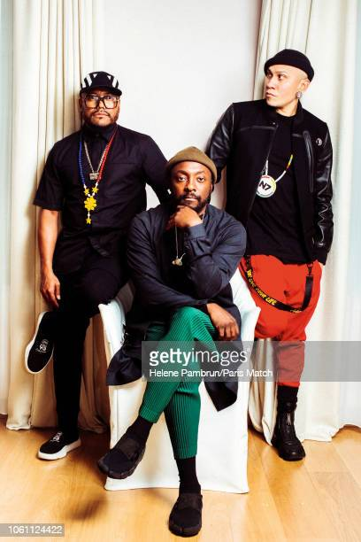 Pop group Black Eyed Peas are photographed for Paris Match on September 13 2018 in Paris France