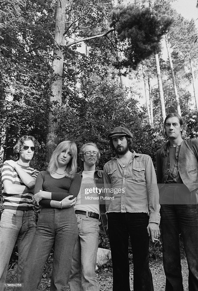 Pop group Fleetwood Mac, September 1973. Left to right: guitarist Bob Weston (1947 - 2012), singer and keyboard player Christine McVie, guitarist Bob Welch (1945 - 2012), bassist John McVie and drummer Mick Fleetwood.