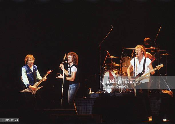 Pop group Foreigner in concert at Wembley in London