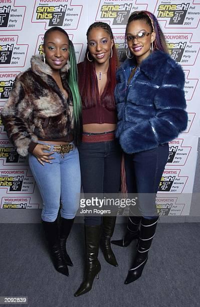 Pop group Misteeq Sabrina Washington SuElise Nash and Alesha Dixon at the Smash Hits T4 Poll Winners Party held at the London Arena London on...