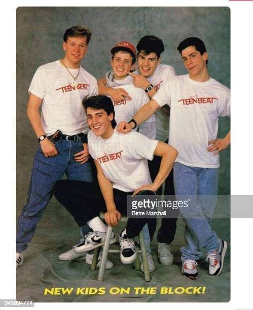 New Kids on the Block are photographed for Teen Beat Magazine in 1988 in New York City