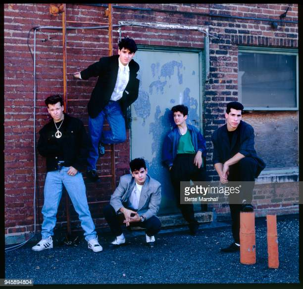 New Kids on the Block are photographed in 1989 in New York City.