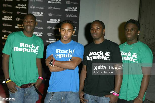 Pop group North Start arrive at the Rock And Republic Collection Spring 2005 show at Culver City Studios during MercedesBenz Fashion Week October 29...