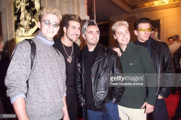 Pop group 'N-Sync arrives for the 1998 Billboard Music Awards party at MGM Grand's Studio 54 in Las Vegas, NV.