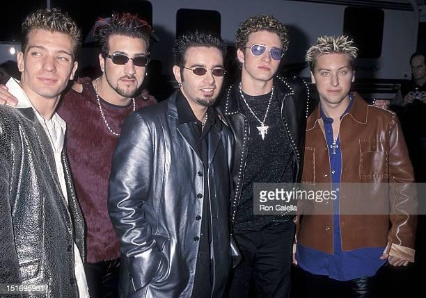 Pop group NSYNC JC Chasez Joey Fatone Chris Kirkpatrick Justin Timberlake and Lance Bass attend the 27th Annual American Music Awards on January 17...
