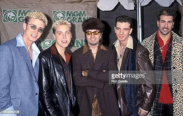 Pop group NSYNC: Justin Timberlake, Lance Bass, Chris Kirkpatrick, JC Chasez and Joey Fatone attend the Ninth Annual Billboard Music Awards on...