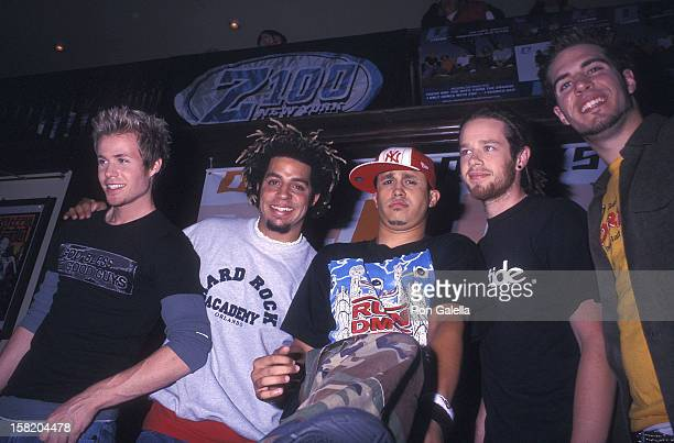 Pop group OTown Ashley Parker Angel Trevor Penick ErikMichael Estrada Jacob Underwood and Dan Miller attend an Exlusive Listening Party for OTown's...