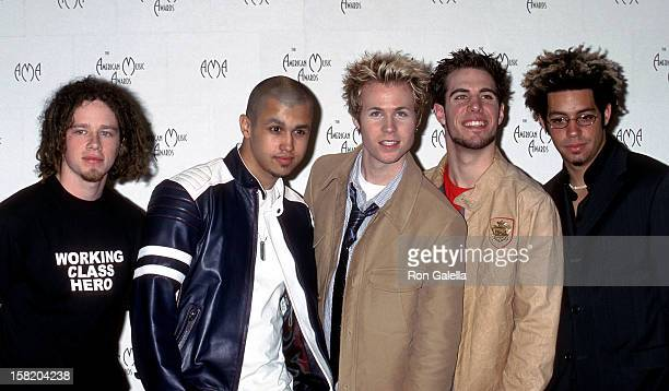 Pop group OTown Jacob Underwood ErikMichael Estrada Ashley Parker Angel and Trevor Penick attend the 29th Annual American Music Awards on January 9...