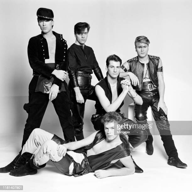 Pop group Spandau Ballet. Band members are Gary Kemp, Steve Norman, John Keeble, Martin Kemp and Tony Hadley. 10th December 1981.