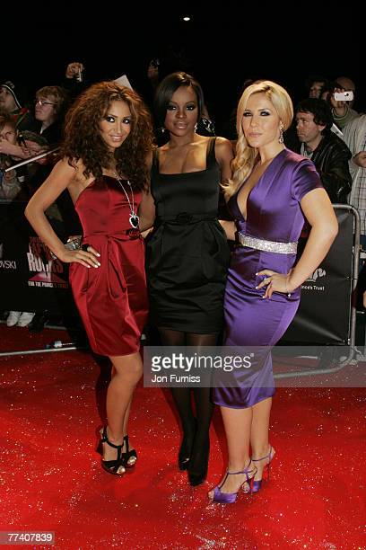 Pop group Sugarbabes arrive at the Swarovski Fashion Rocks concert at the Royal Albert Hall on October 18 2007 in London England