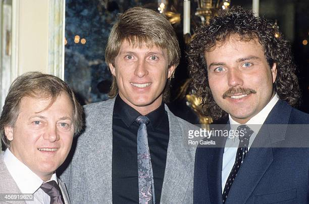 Pop group The Lettermen attend the Hollywood Women's Press Club's 46th Annual Golden Apple Awards on December 14 1986 at Beverly Wilshire Hotel in...