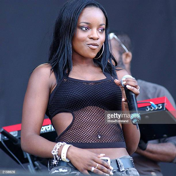 Pop group The SugaBabes performs at the Guinness Witnness Festival at Punchestown Racecourse July 12 2003 in Kildare Ireland