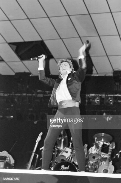 Pop group Wham! in concert at Whitley Bay. December 1984. Pop group Wham! in concert at Whitley Bay Ice Rink. The opening of The Big Tour. 4th...
