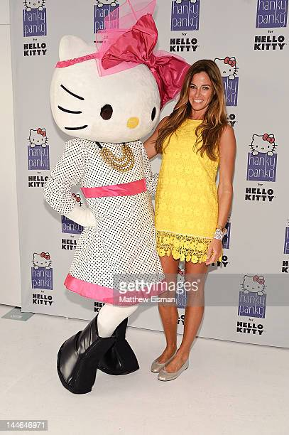 Pop icon Hello Kitty and Kelly Bensimon attend the Hanky Panky for Hello Kitty collection launch at Studio 450 on May 16 2012 in New York City