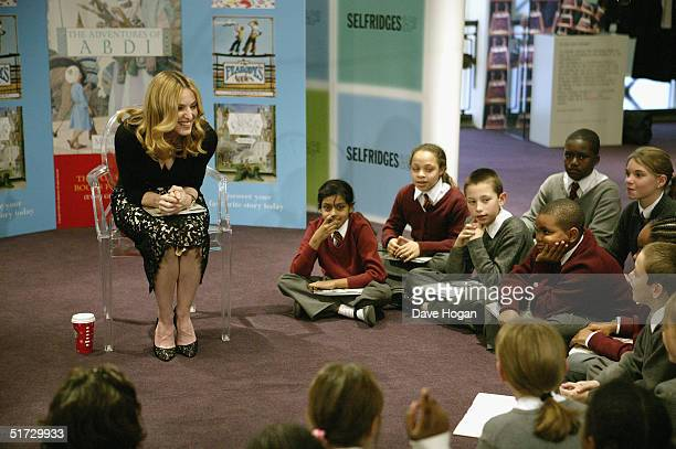 Pop Icon Madonna launches her latest illustrated children's book 'The Adventures Of Abdi' at Selfridges on November 11 2004 in London The book is the...
