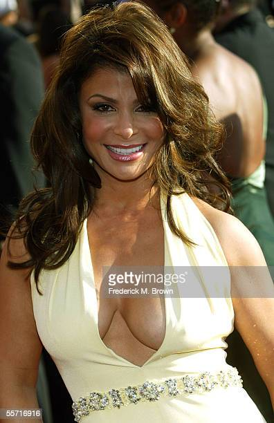Pop Idol Judge Paula Abdul of FOX's nominated reality series 'American Idol' arrives at the 57th Annual Emmy Awards held at the Shrine Auditorium on...