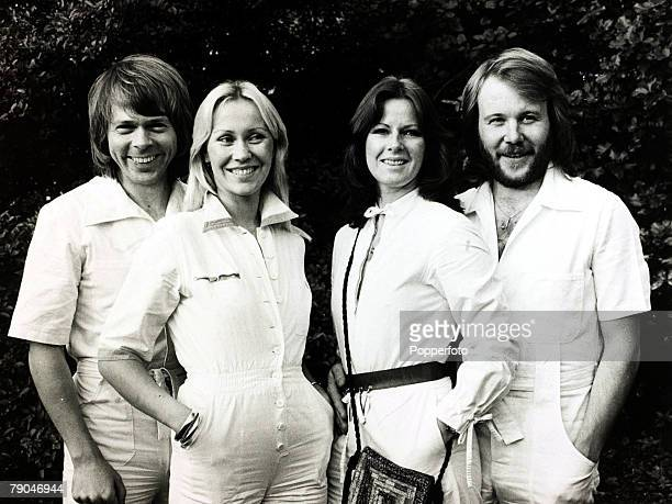 Pop Music 4th October 1979 Swedish pop group Abba LR Bjorn Agnetha AnnaFrid and Benny