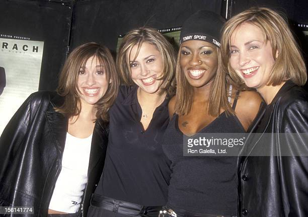 Pop music group All Saints attend the TNT Television Concert Special 'Burt Bacharach One Amazing Night' on April 8 1998 at Manhattan Center in New...