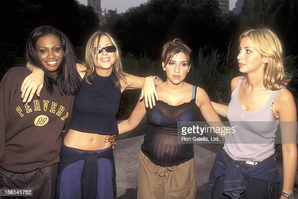 Pop music group All Saints attends the Benefit Concert for the AntiGun Violence Organization PAX on August 26 1998 at The Wollman Rink Central Park...