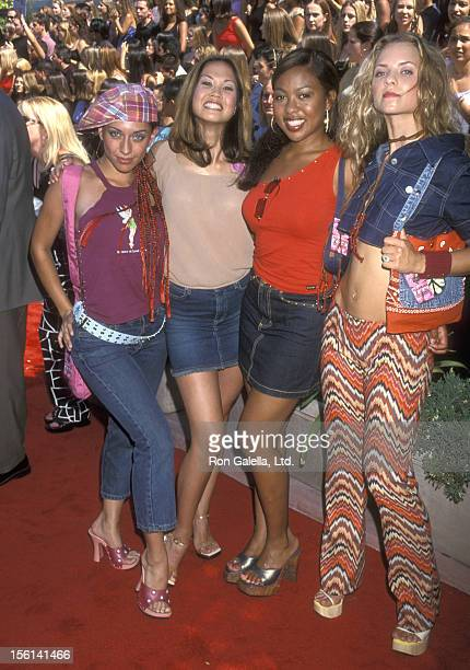 Pop music group Nobody's Angel attends the Third Annual Teen Choice Awards on August 12 2001 at Universal Amphitheatre in Universal City California