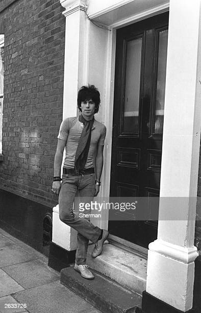 Pop musician Keith Richards guitarist with British rock group The Rolling Stones Original Publication People Disc HK0178
