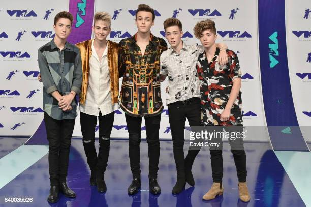 Pop quintet Why Don't We attend the 2017 MTV Video Music Awards at The Forum on August 27 2017 in Inglewood California
