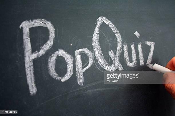 pop quiz - pop stockfoto's en -beelden