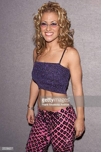 Pop singer Anastacia backstage at the 2000 MTV Europe Music Awards at the Globe Arena in Stockholm Sweden Thursday November 16 2000 Photo by Frank...
