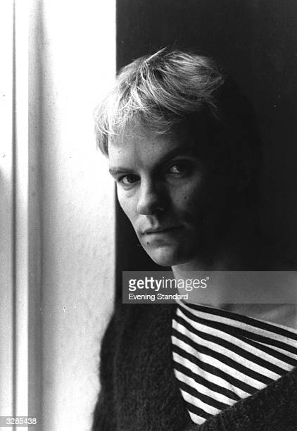 Pop singer and bassplayer Sting born Gordon Sumner of the group The Police