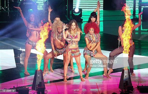 Pop singer Belinda performs onstage at the Kids Choice Awards Mexico 2012 at Pepsi Center WTC on September 1 2012 in Mexico City Mexico
